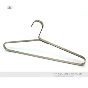 Metal Wide Board Clothes Top Hangers Black Adult Coat Hangers for Jeans pictures & photos