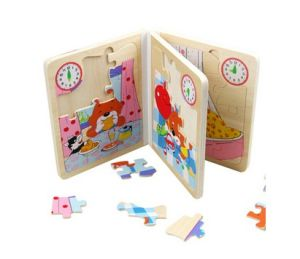 Educational Wooden Puzzle Book for Kids