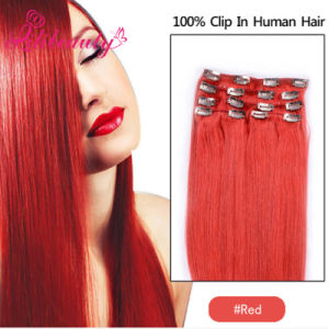 Cheap 100% Natural Brazilian Virgin Remy Clip in Human Hair Extension pictures & photos