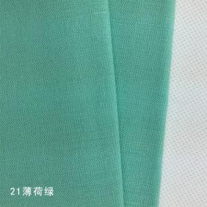 Linen Cotton Plain Dyed Fabric pictures & photos