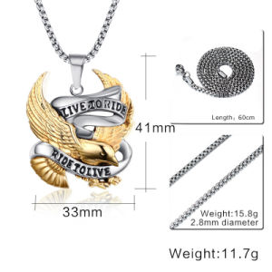 Personalized Retro Pendant Punk Rock Tide Men Jewelry Eagle Titanium Steel Necklace Pendant pictures & photos
