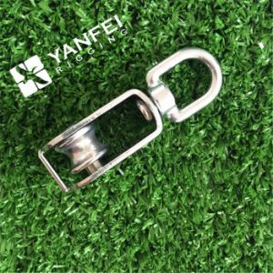 Stainless Steel Lifting Swivel Single Pulley Block for Rope pictures & photos