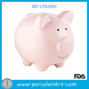 Lovely Pink Pig Ceramic Money Saving Bank Coin Box pictures & photos