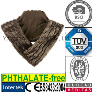 Luxury Fur Scarf Lavender Wheat Bag Microwave Heat Bag