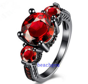 Black Plated Color CZ Jewelry Rings (R0846)