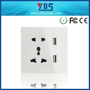 Universal USB Wall Socket China/Aus/EU/Us Plug pictures & photos