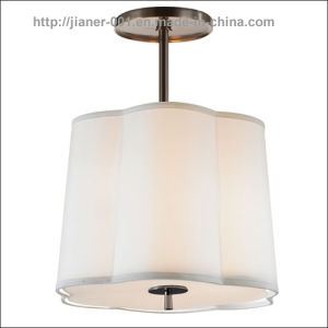 Home White Decorative Suspension Lighting with Fabric Shade pictures & photos