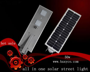 5 Years Warranty 50W LED Garden Solar Street Light with PIR Sensor pictures & photos