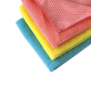 High Quality Cleaning Cloth Double Use Microfiber Cloth for Multipurpose (4013) pictures & photos