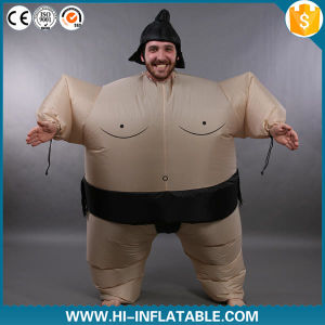 Adult Airblown Inflatable Fat Sumo Wrestler Halloween Costume Fancy Dress Jumpsuit