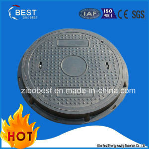 D400 Circular Composite Resin Rubber Manhole Covers with Frame pictures & photos
