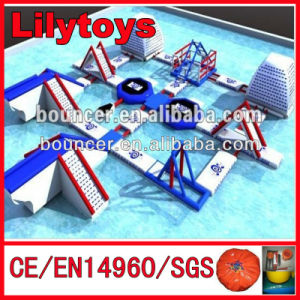 Inflatable Raceway Waterslide for Water Park