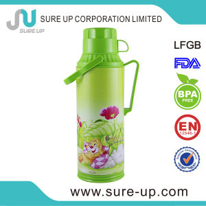 Green Flower with Cup Glass Inner Vacuum Flask Coffee Tea Jug (JGGN) pictures & photos