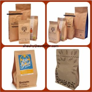 Aluminum Foil Printing Degassing Valve Coffee Packaging Bag with Tin - Tie pictures & photos