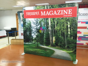 Straight Floor Porable Floding Fabric Stand Backdrop For Advertising Promotion
