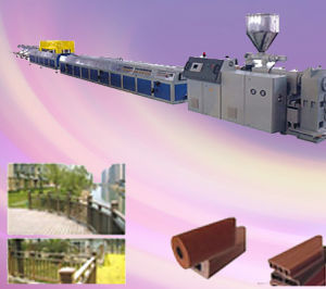 Wood Plastic Panel Production Line pictures & photos