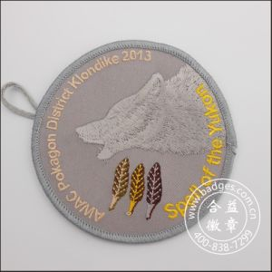 Embroidery Patch Garment Accessory Round Clothes Parts (GZHY-PATCH-004) pictures & photos
