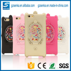 China Factory Tridimensional Cosmetic Mirror Phone Case Cover for iPhone 7/7plus with Bling Bling Rhinestone pictures & photos