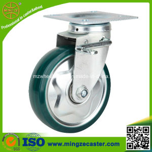 Medium Duty Green Polyurethane Trolley Wheel pictures & photos