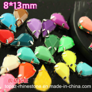 Tear Drop 8*13mm Claw Rhinestone Sew on Crystal Beads pictures & photos