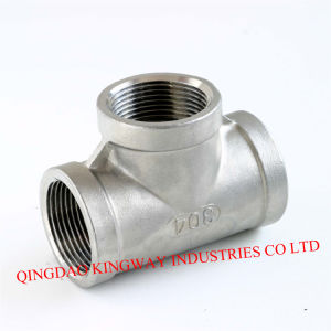 Stainless Steel Threaded Tee, 304/316 pictures & photos