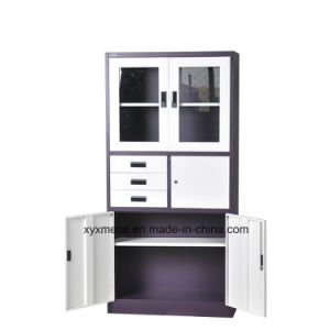 Three Slides Steel High Quality Elegant and Comfortable Office Rattan File Cabinet pictures & photos