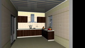 Modern Wooden Kitchen Cabinet (AGK032)