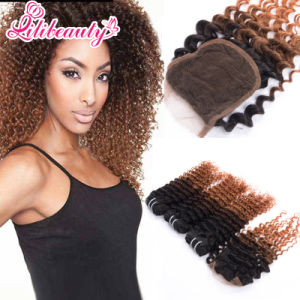 Ombre Lace Closure with Bundles in 1b/4/30 pictures & photos