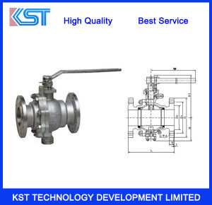 2PC Handle Mounted Ball Valve