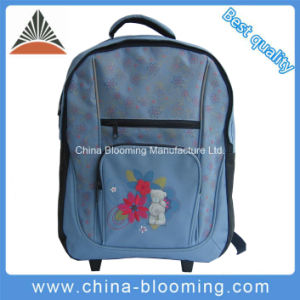 Lovely Trolley Wheeled Rolling School Student Bag Backpack pictures & photos