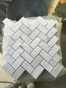 Carrara White Marble Mosaic for Wall Cladding pictures & photos