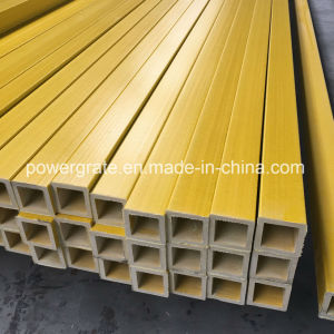 Yellow Tube Fiberglass FRP Square Tube pictures & photos