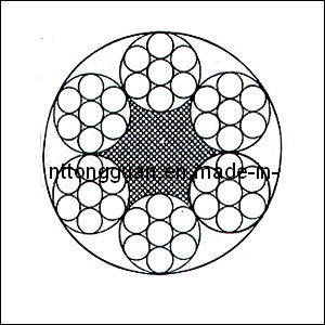 Special-Purpose Steel Wire Rope 6X7+FC pictures & photos