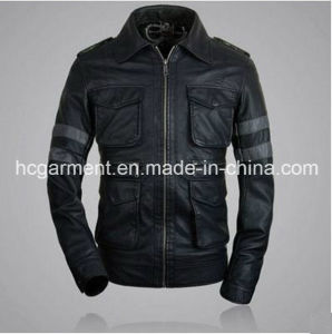 Men′s Safety Waterproof PU Leather Jacket, Motorcycle Jacket pictures & photos