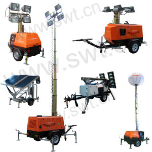 Swt LED Lighting Tower with 7m Vertical Mast 1200W Light pictures & photos