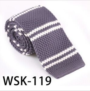 Men′s Fashionable 100% Polyester Knitted Necktie (WSK -119) pictures & photos