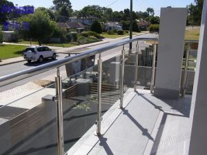 Stainless Steel Frame Toughened Balcony Glass Balustrade pictures & photos