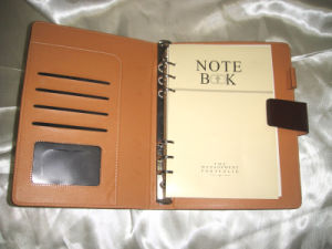 Leather Cover Paper Notebook with High Quality pictures & photos