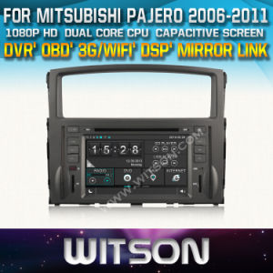 Witson Car DVD Player with GPS for Mitsubishi Pajero (2006-2011) (W2-D8846Z) pictures & photos