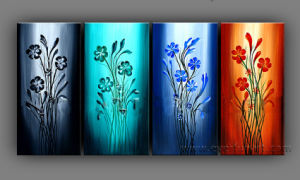 Beautiful Abstract Flower Group Oil Painting on Canvas for Home Decor pictures & photos