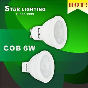 100 Degree Beam Angle GU10 COB 6W LED Spotlight pictures & photos