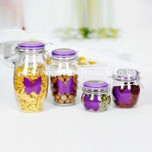 Airtight Candy Jar/Mason Jar/Candle Jar/ Glass Storage Jar with Clip/Clamp/Locking Lid