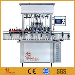 Pneumatic Sauce Paste Cream Liquid Filler Filling Machine 5-50ml.