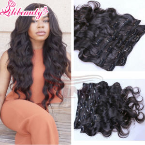 Human Hair Wholosale Brazilian Clips in Hair Extension pictures & photos