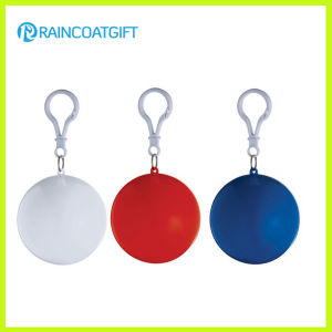 Promotional Keychain Ball Packing PE Disposable Rain Poncho pictures & photos