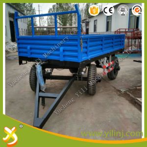 2 Wheels Trailer and 4 Wheels Farm Trailer Tractor Tipping Trailer for Sale pictures & photos