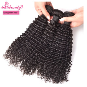 Mongolian 100% Human Hair Kinky Curly Hair Bundles pictures & photos