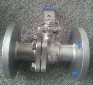 ANSI Stainless Steel Flanged Ball Valve with Mount Pad 300lb pictures & photos