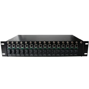 16 Slots Media Converter Chassis Dual Power Supply (MC-RACK-16-2U) pictures & photos