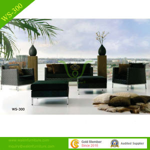 Black Rattan Furniture Outdoor Sofa Set